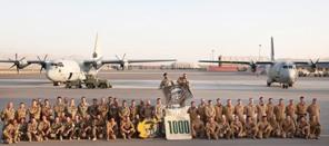 C-130J dell'aeronautica militare italiana ha aviolanciato il millesimo pallet