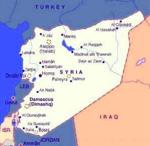 siria cartina politica