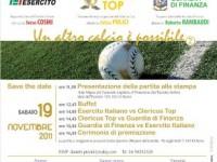 Roma: triangolare di calcio tra Clericus Top, Esercito e Guardia di Finanza