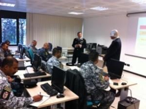 Velletri: lezione in aula per gli studenti della Federal Police irachena - Fonte Comando Istituto Superiore di Tecniche Investigative