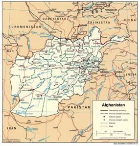 afghanistan-cartina-politica
