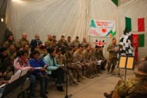 Herat - Coro durante Messa di Natale