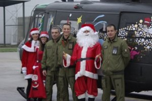 Babbo Natale ai figli dei militari del 5° rigel