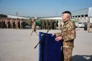 Herat - Il generale Portolano fa gli auguri di Natale ai suoi uomini