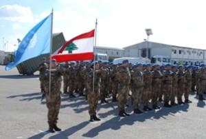 Un momento della cerimonia nella base Millevoi