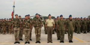 La cerimonia di saluto del 5° Rigel prima della partenza per l'Afghanistan