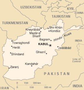 afghanistan-cartina