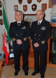contrammiraglio Edoardo Compiani e il contrammiraglio Domenico Di Capua