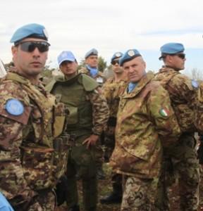 Libano - Il generale Lamanna sul luogo dei corridoi