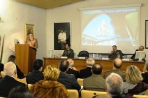 L'intervento del Capo di SME - Al tavolo il generale Di Luzio, il generale Gay e il prof. Bistoni
