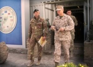 Il generale Portolano e il generale Allen