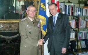 Il generale Graziano e il sindaco Fassino