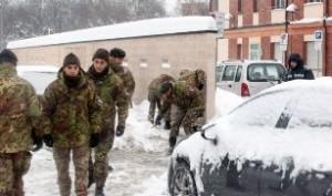 Emergenza maltempo: aumenta il numero dei militari impegnati