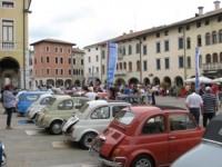 Friuli: le Fiat 500 storiche sul passo carnico Sella Chianzutan il 5 agosto