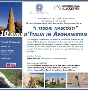 I tesori nascosti, 10 anni di Italia in Afghanistan