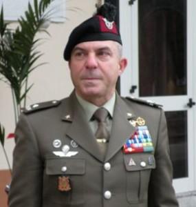 Il generale Luigi Chiapperini  comandante della Brigata Garibaldi