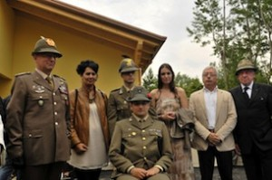 Il Generale Graziano con la famiglia Barisonzi