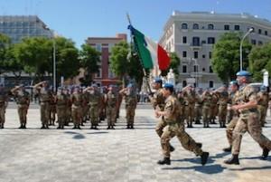 Bari: cerimonia rientro dal libano della brigata Pinerolo