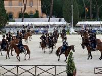 Roma: l'Esercito al concorso Ippico internazionale ufficiale di Piazza di Siena