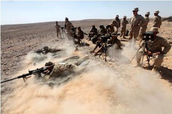 esercitazione dei militari italiani in Giordania