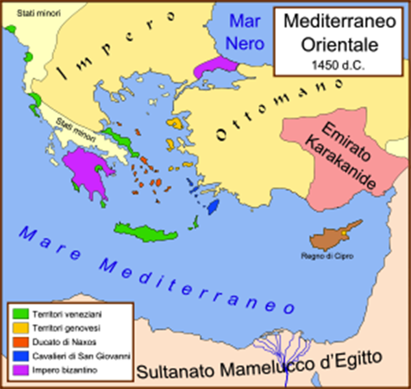 Empori e presidi sulle rotte del commercio genovese e veneziano