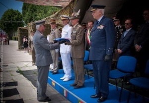 cerimonia di chiusura del Comando European Operational Rapid Force (EUROFOR)
