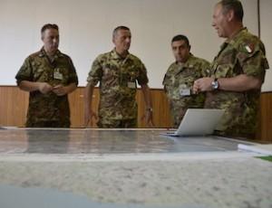 Bracciano:pianificazione operativa della brigata Friuli