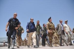 Il presidente Schifani presso la Forward Operative Base