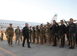 Ministro della Difesa Giampaolo Di Paola ha visitato i militari italiani impegnati nella missione ISAF