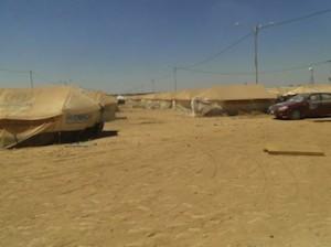 Un'immagine del campo di Za'tari