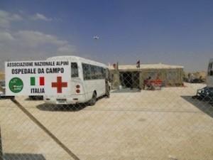 L'ingresso dell'ospedale da campo italiano