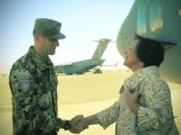 Herat: il ministro della difesa lituano Juknevičienė visita la sede del Regional Command – West di Isaf