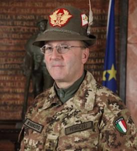 generale Primicerj Alberto comandante delle Truppe Alpine