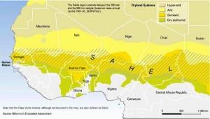 La mappa del Sahel