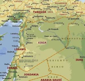 La mappa della Siria