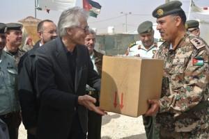 Giordania visita dell'ambasciatore al campo di Zaatari