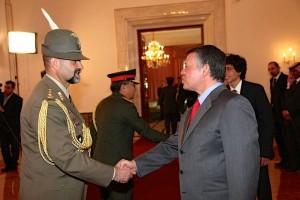 Il Colonnello Gatti e il Re di Giordania Abdullah II