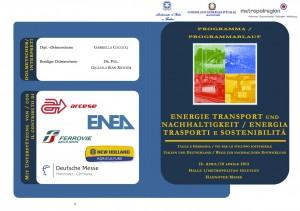 Energia trasporti e sostenibilità: Hannover locandina convegno
