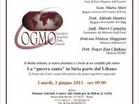 """La """"guerra santa"""" in Siria parte dal Libano: un convegno a Roma presso il Casd il 3 giugno"""
