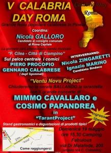 Roma: domenica 19 maggio Calabria Day