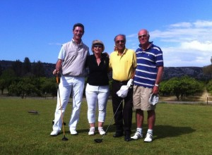 Alcuni golfisti dell'Aerogolf