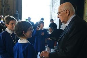 cerimonia di inaugurazione dell'anno scolastico al Quirinale