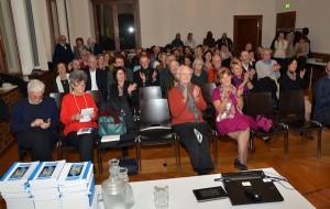 La sala del Municipio di Zurigo durante la conferenza di Tindaro Gatani