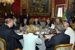 Giorgio Napolitano, ha convocato il Consiglio Supremo di Difesa
