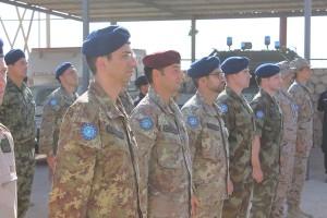 EUTM Somali- Mogadiscio- Elementi italiani dello staff durante la cerimonia