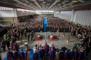 I funerali del generale Calligaris e del capitano pilota Lozzi