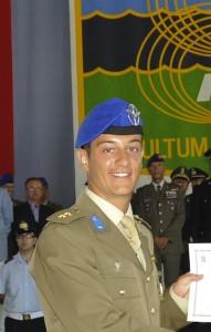 Il tenente Paolo Lozzi, allievo pilota