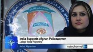 India supports Afghan policewomen