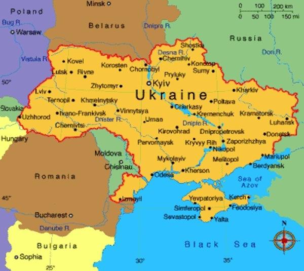Cartina Geografica Russia Ucraina.Alcune Considerazioni Sullo Scontro E La Questione Ucraina