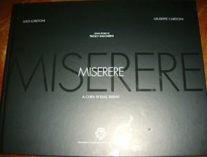 La copertina del volume Miserere